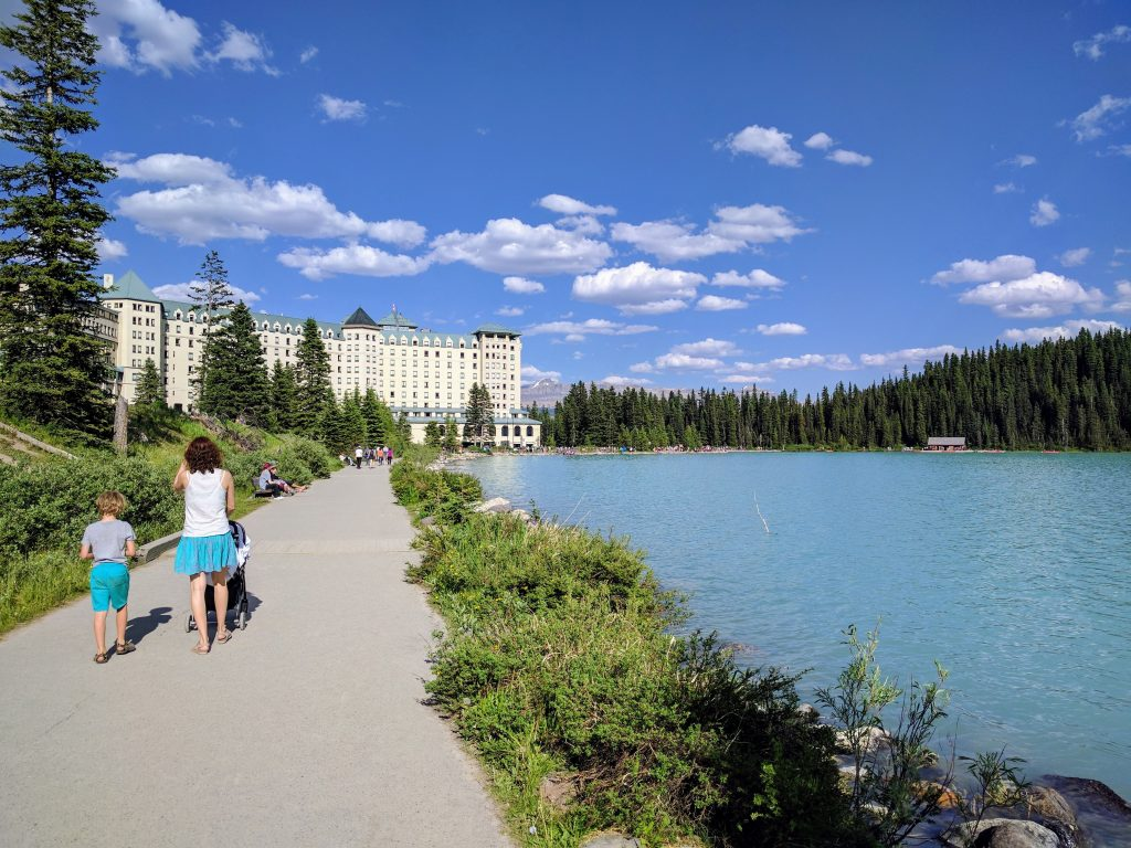 Strolling around Lake Louise. Alberta, Canada