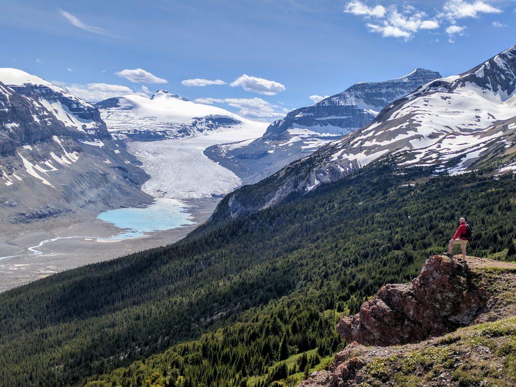 View of Saskatchewan Glacier from Parker Ridge trail. Banff National Park photo credit: Wikimedia