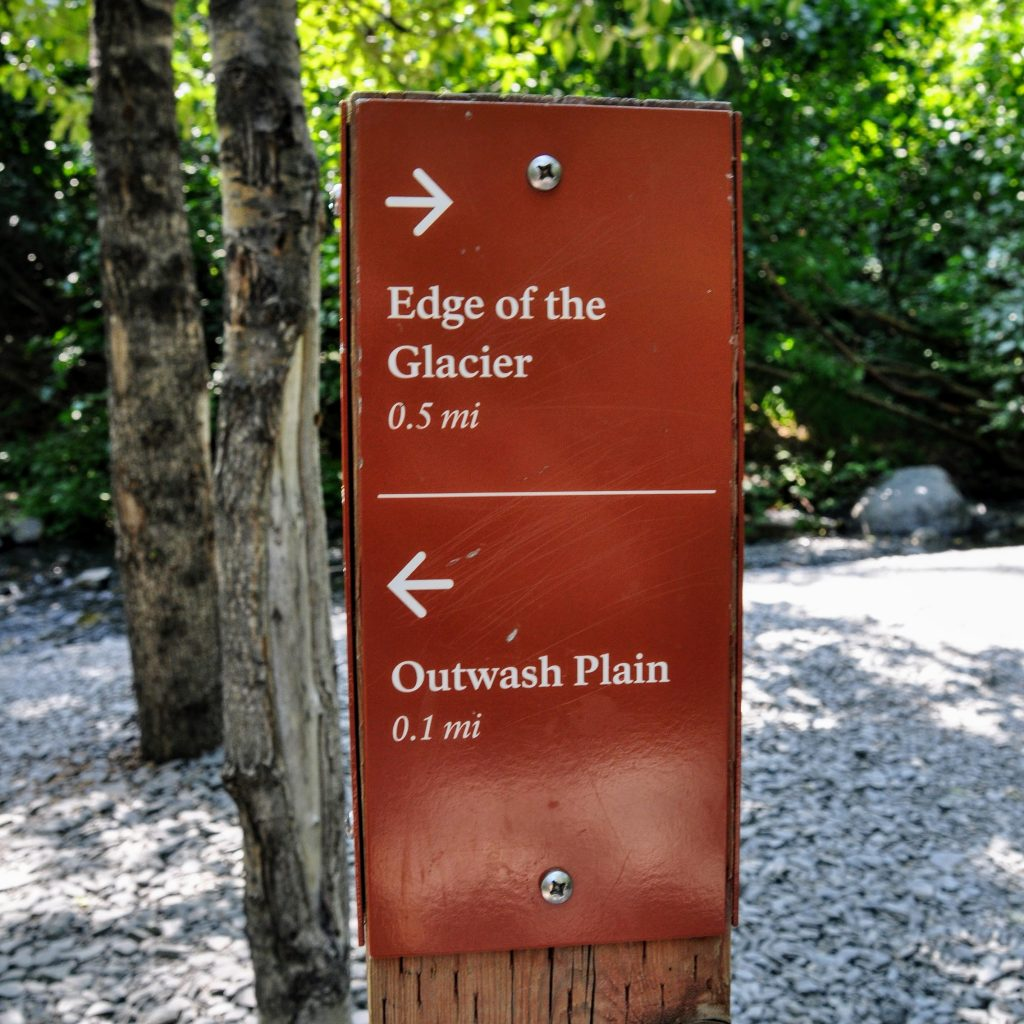 Don't miss this sign: Outwash Plain turn