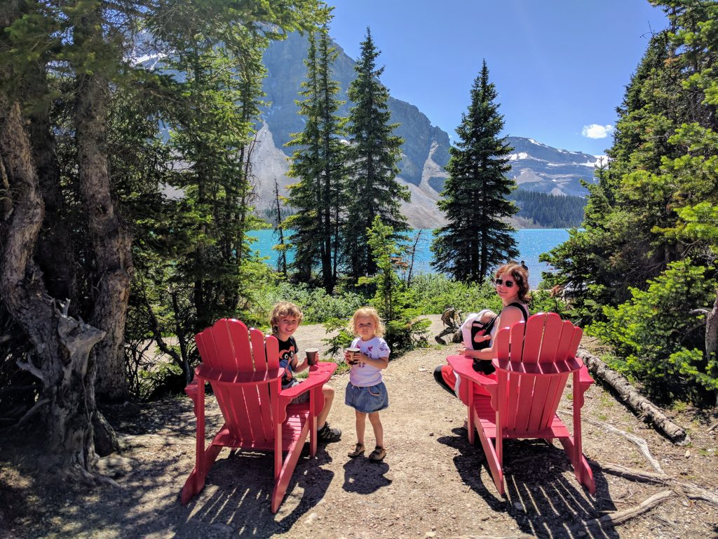 Banff Jasper 5 Days Itinerary: Chilling out after a trip to Peyto Lake.   Num-Ti-Jah Lodge, Bow Lake, Banff National Park