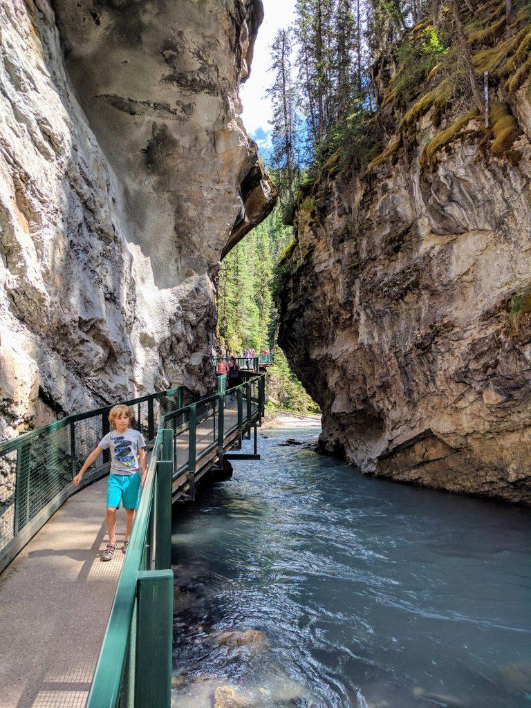 Banff Jasper 5 Days Itinerary: Catwalk at Johnston Canyon. Banff National Park