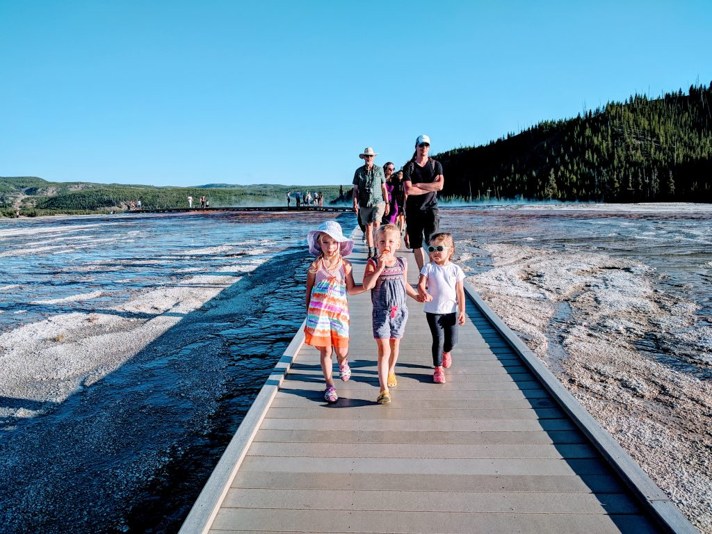On the way to Grand Prismatic Spring