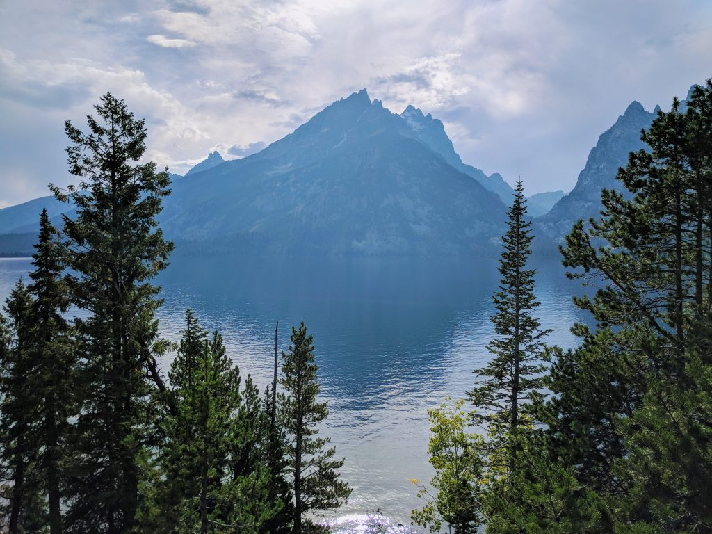 View of Grand Teton from Jenny Lake visitor center