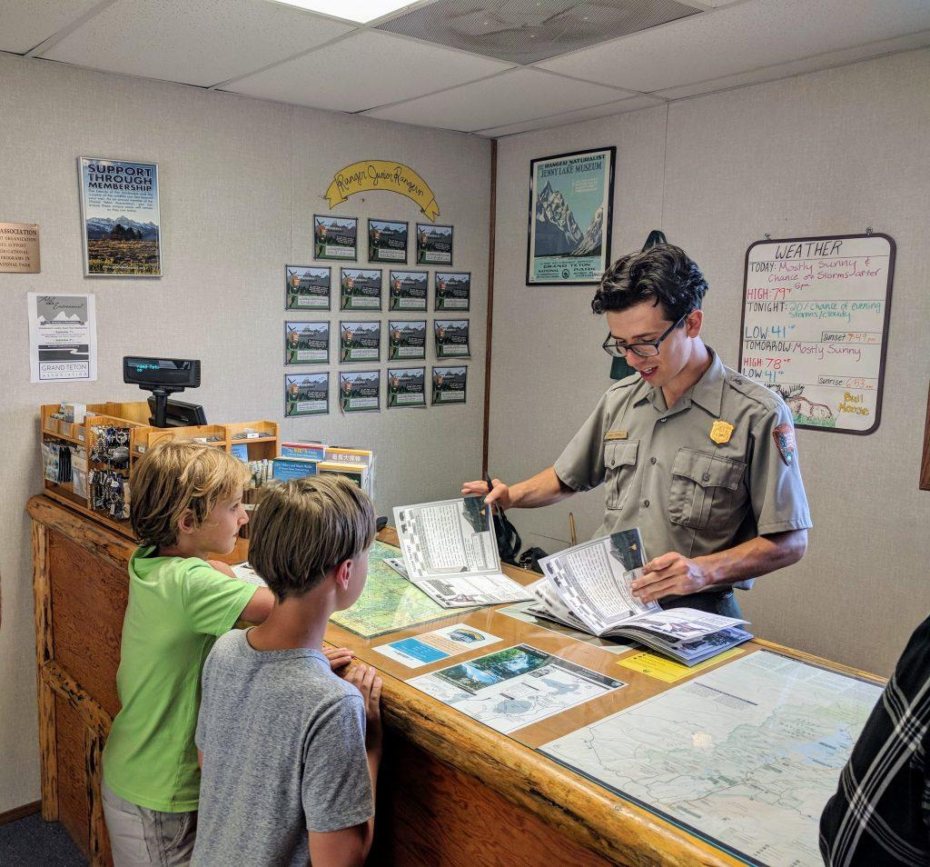 Boys almost ready to take the Oath. Grand Teton National Park