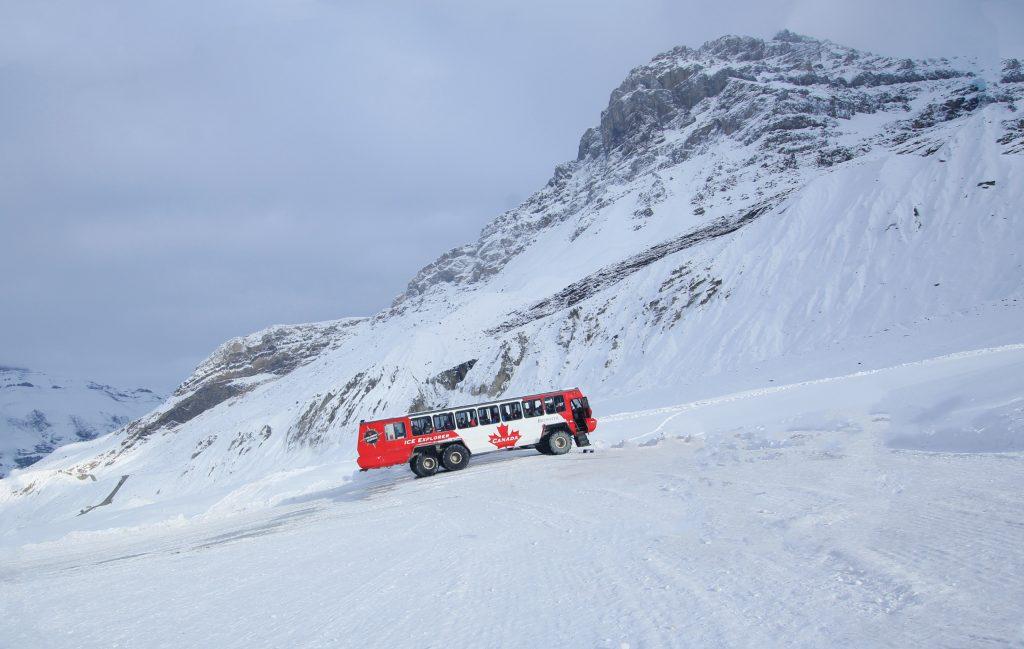Snow-coach tour, Columbia Icefield. Alberta, Canada. Photo credit: Wikimedia