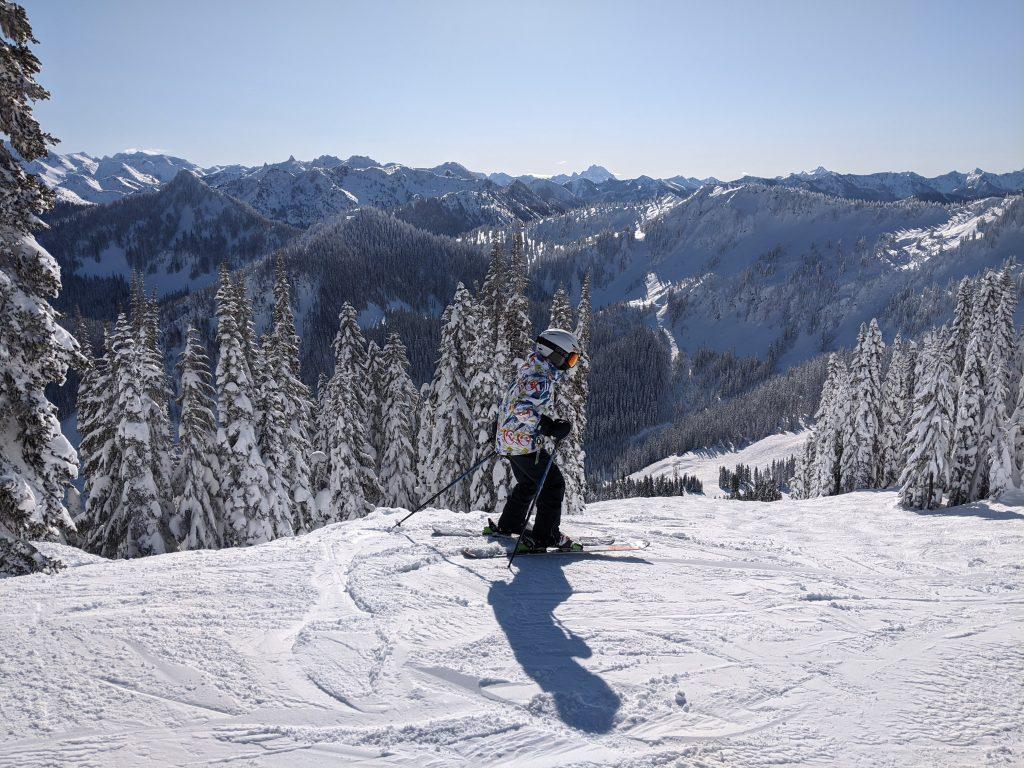Artem, 10 y.o. skiing at Stevens Pass, Washington