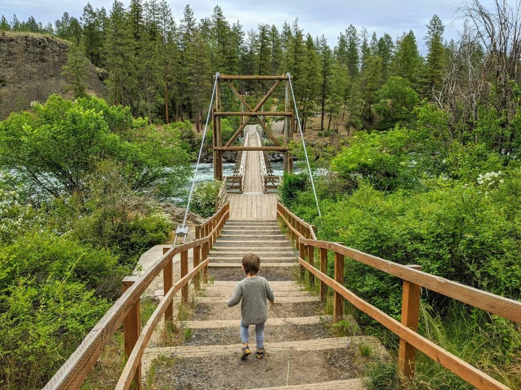 Bowl and Pitcher suspension bridge