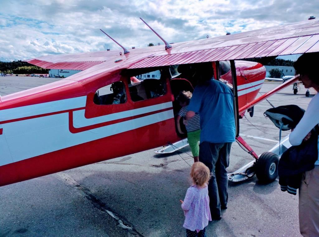 """Mom, may we get a plane when we'll be back home?"" :). K2 Aviation, Talkeetna, Alaska"
