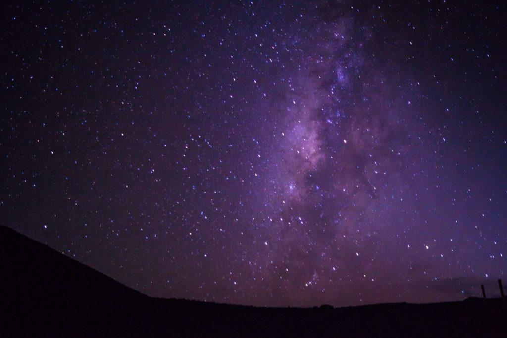 Hawaiian Volcanoes: view of Milky Way from Mauna Kea