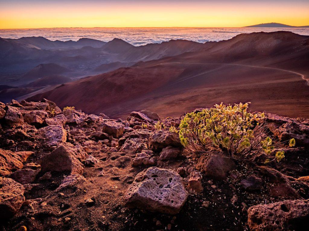 Sunrise at Haleakala National Park in Maui, Hawaii